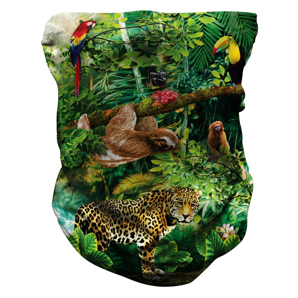 ADULT PROTECTIVE NECK GAITER RAINFOREST PRINT