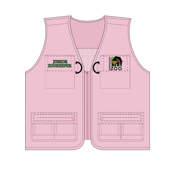 YOUTH JUNIOR ZOOKEEPER VEST PINK