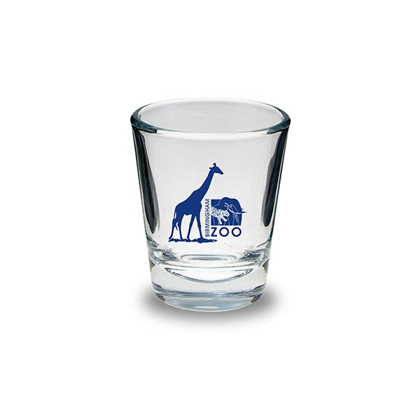 SHOT GLASS LOGO GIRAFFE BLUE