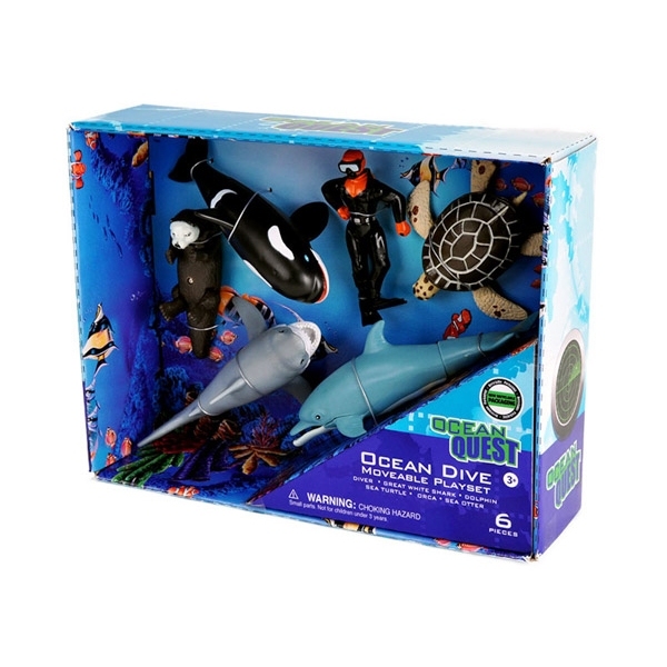 OCEAN QUEST MOVEABLE OCEAN DIVE PLAYSET