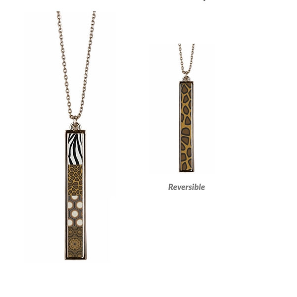 Safari Vertical Bar Reversible Necklace