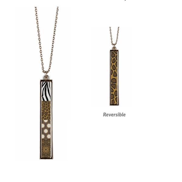 Safari Vertical Bar Reversible Necklace