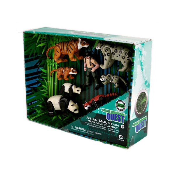 ASIAN MOUNTAIN QUEST MOVABLE ANIMALS PLAYSET