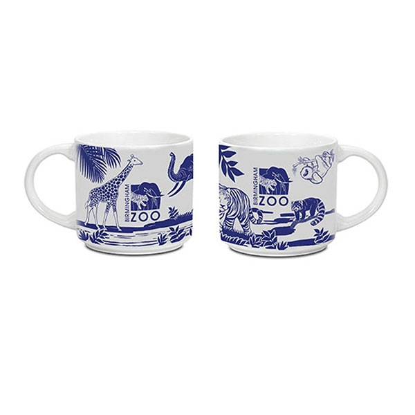 MUG ANIMAL LOGO COLLAGE BLUE