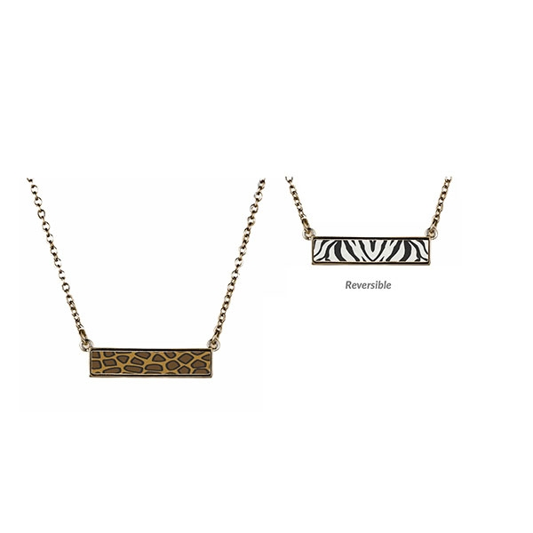 Safari Reversible Bar Necklace