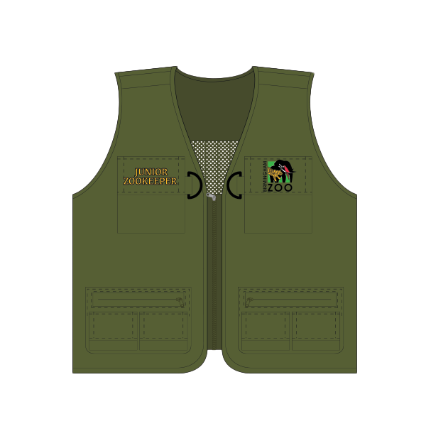 YOUTH JUNIOR ZOOKEEPER VEST OLIVE