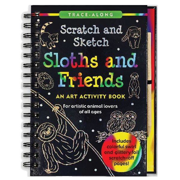 SCRATCH AND SKETCH SLOTH AND FRIENDS