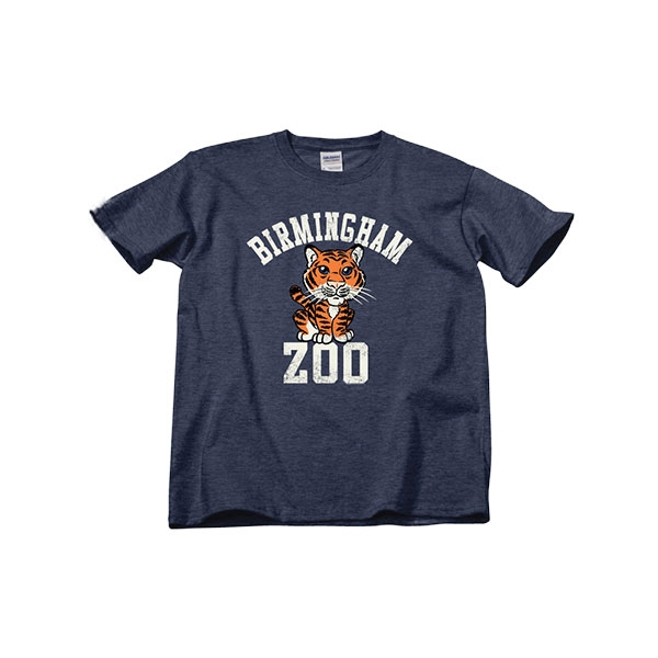 YOUTH SHORT SLEEVE TEE BIRMINGHAM ZOO TIGER AU NAVY