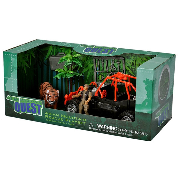 ASIAN MOUNTAIN QUEST TIGER RESEARCH PLAYSET
