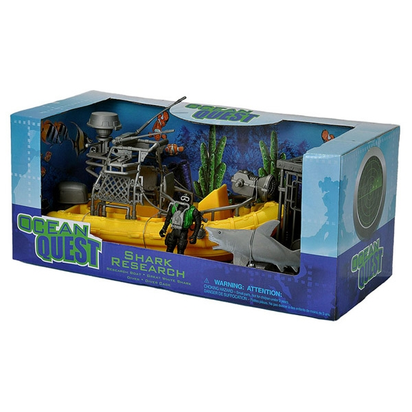 OCEAN QUEST SHARK RESEARCH PLAYSET