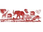 MUG ANIMAL LOGO COLLAGE RED